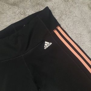 Adidas peach striped leggings